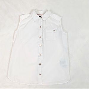 Tommy Hilfiger girls sleeveless button up shirt